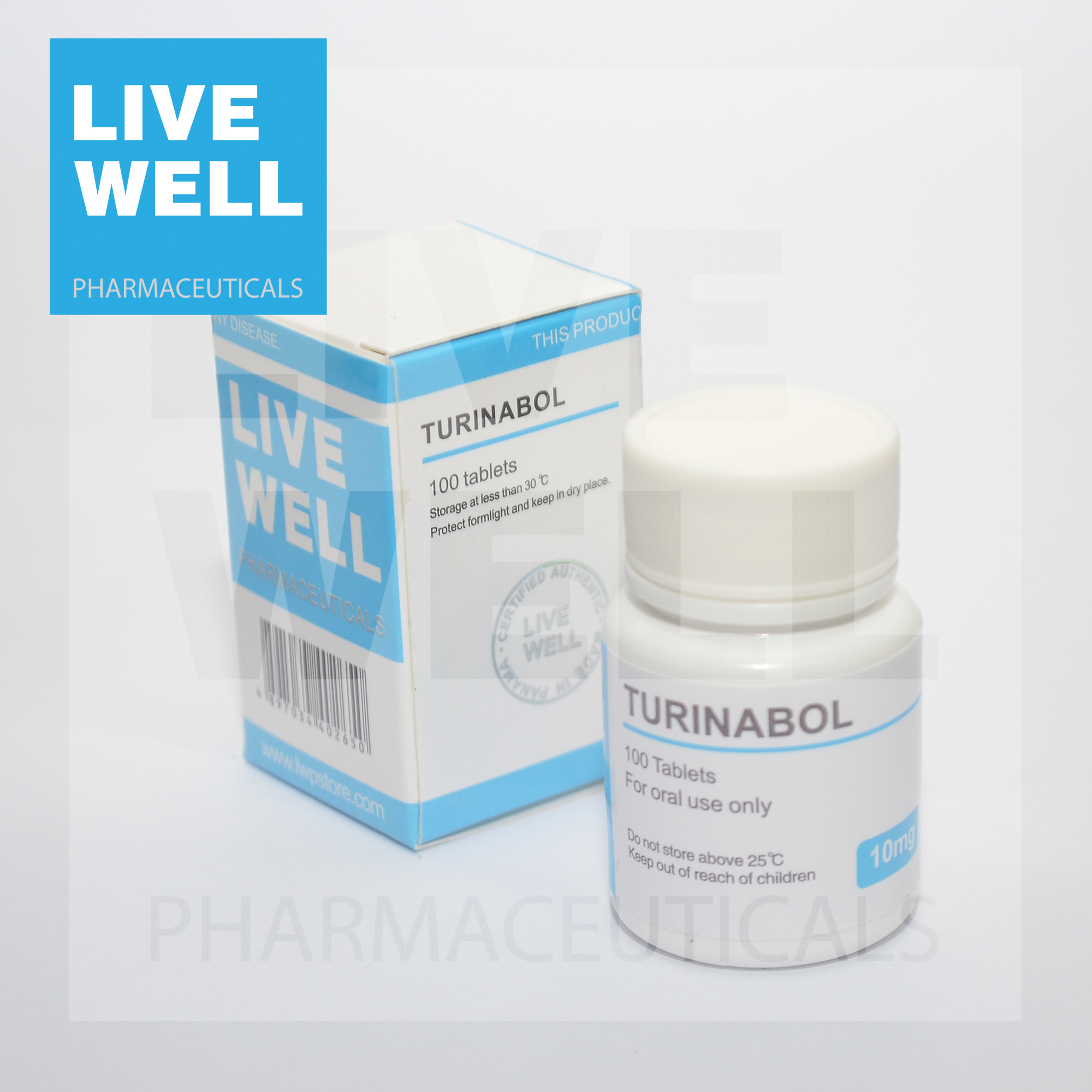 Live Well Brand Oral Turinabol 10mg 100tabs 5kits